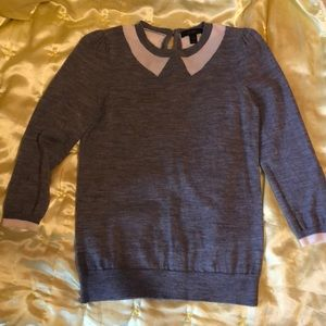 J. Crew Grey Merino Wool Sweater